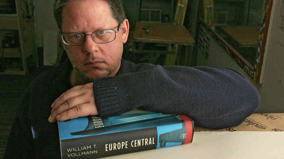 Author William T. Vollmann poses in his studio in Sacramento, Calif., in 2005.