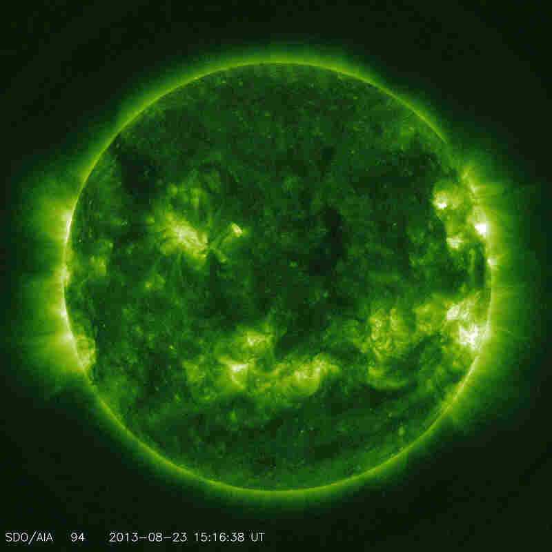 This channel is designed to study solar flares. It measures extremely hot temperatures around 10.8 million degrees Fahrenheit.