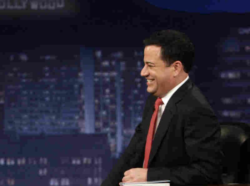 Comedian Jimmy Kimmel interviews Mel Brooks on Jimmy Kimmel Live.