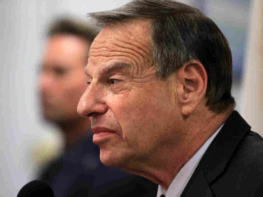 Mayor Bob Filner of San Diego speaks at a news conference in July.