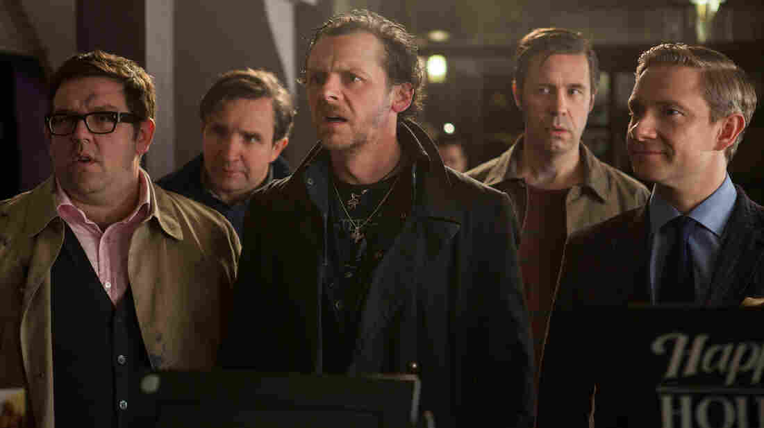 Nick Frost (from left), Eddie Marsan, Simon Pegg, Paddy Considine and Martin Freeman play a group of friends who reunite for a pub crawl challenge in The World's End.