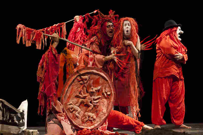 """In honor of its 50th anniversary, Bread and Puppet staged a revival of a show they first performed in 1971 called """"Birdcatcher in Hell."""" Forty-two years after the first performance, the revival starred many of the original actors."""