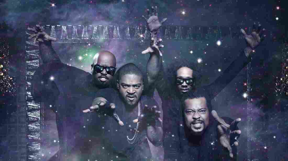 Goodie Mob, left to right: Cee-Lo, T-Mo, Big Gipp, Khujo.