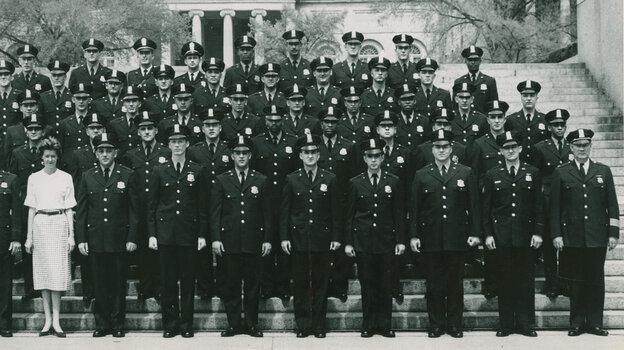 Joseph Burden (third row, third from right) with his graduating class at Washington, D.C.'s Metr