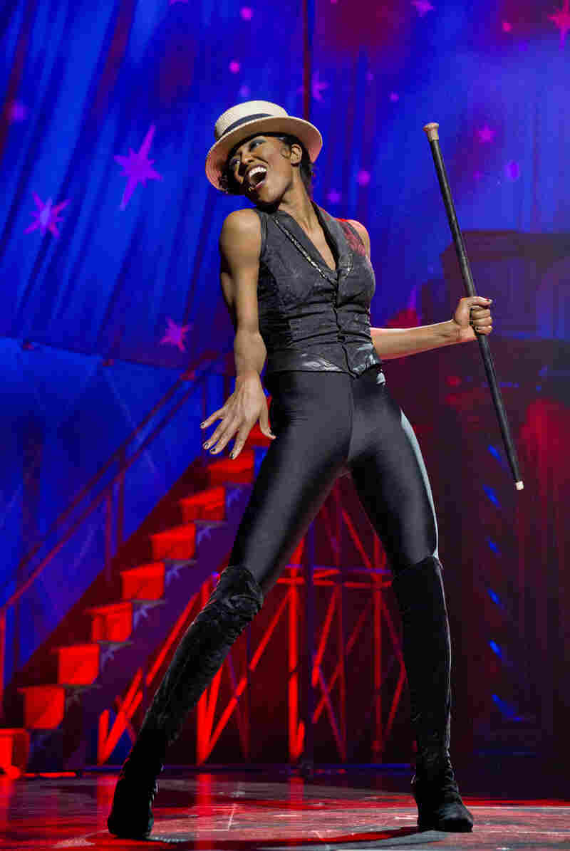 Patina Miller portrays Leading Player in the Broadway revival of Pippin.