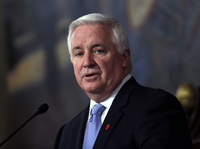 Gov. Tom Corbett addresses a joint session of the Pennsylvania House and Senate on Feb. 5 in Harrisburg.