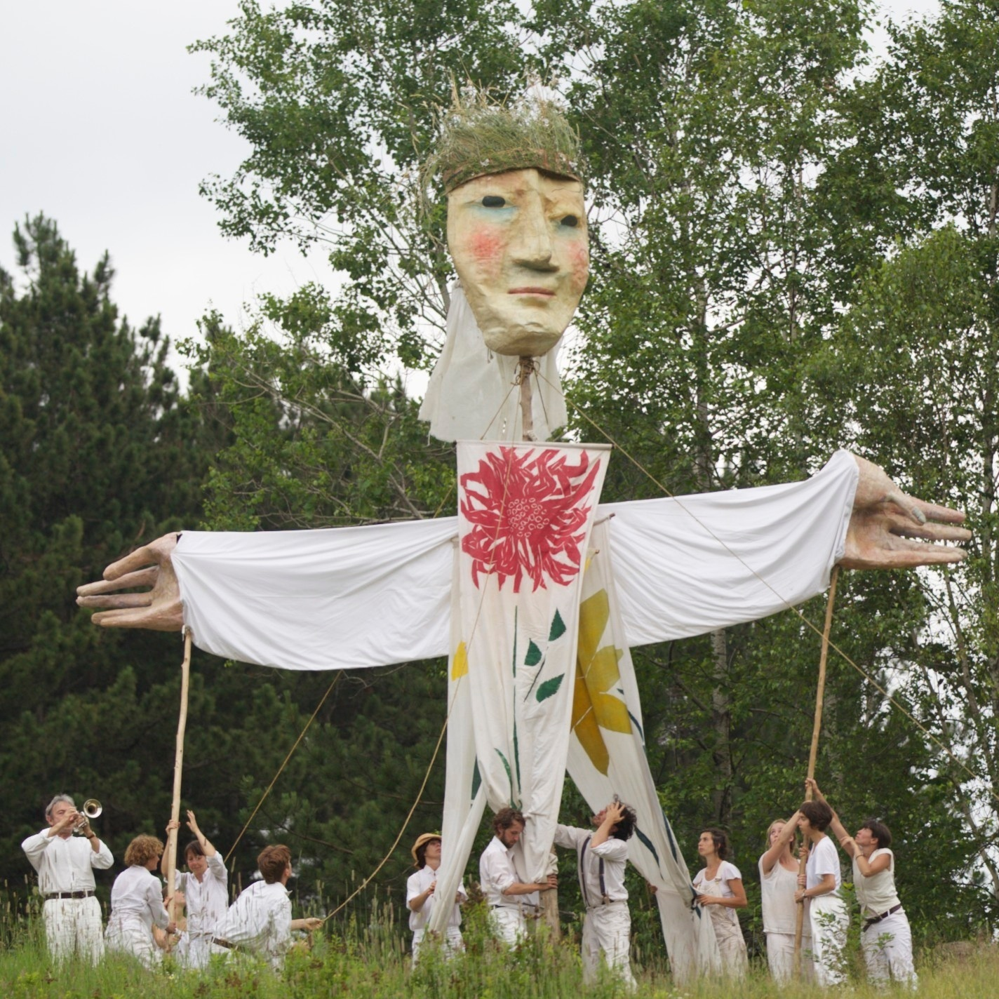 "The Bread and Puppet Theater, which celebrates its 50th anniversary this year, performs ""The Total This & That Circus"" on Sundays this summer."