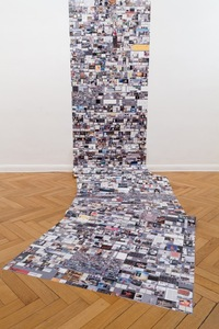 "Evan Roth's work titled ""Internet Cache Self Portrait"" on display in Paris."
