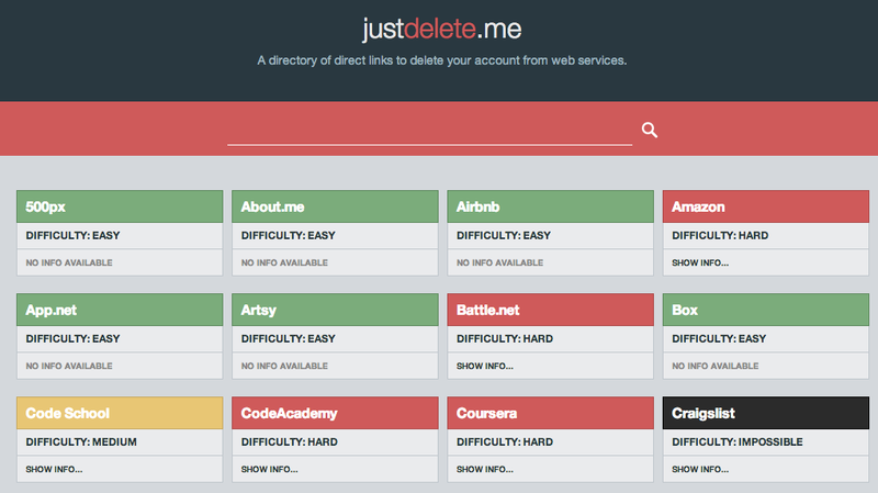 Use This Site To Delete Old Accounts You Don't Use Anymore : All