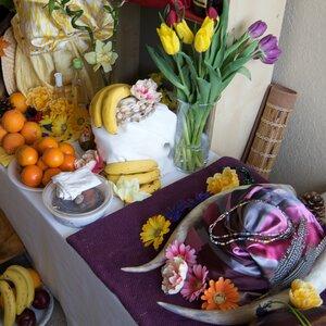 Priest Ifagbemi has an elaborate shrine to Yoruba's gods in his home near Seattle.