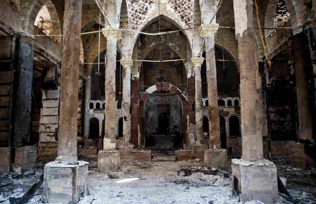 The Amir Tadros Coptic Church in Minya, Egypt, was set ablaze on Aug. 14.