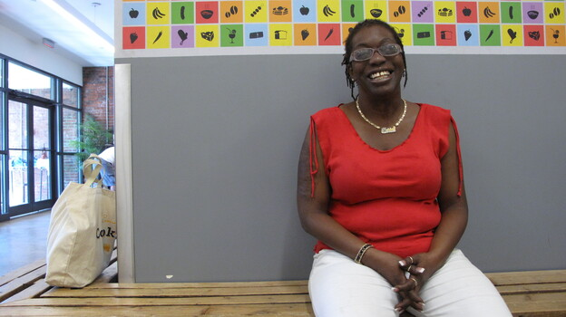 Marion Matthew is a home health aide supporting herself and her 17-year-old son. (NPR)