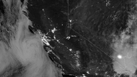 This image was taken by the Suomi NPP satellite's Day-Night Band around 0950Z on August 23, 2013.
