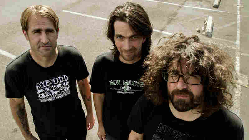 Sebadoh hangs out in the KEXP parking lot before the band's studio session.