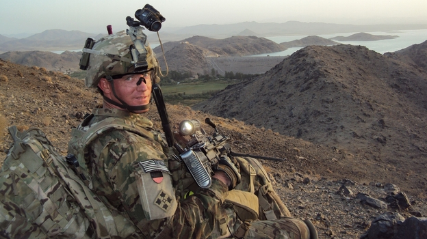 U.S. Army Staff Sergeant Ty Michael Carter near Dahla Dam, Afghanistan in July 2012. (Ho/AFP/Getty Images)