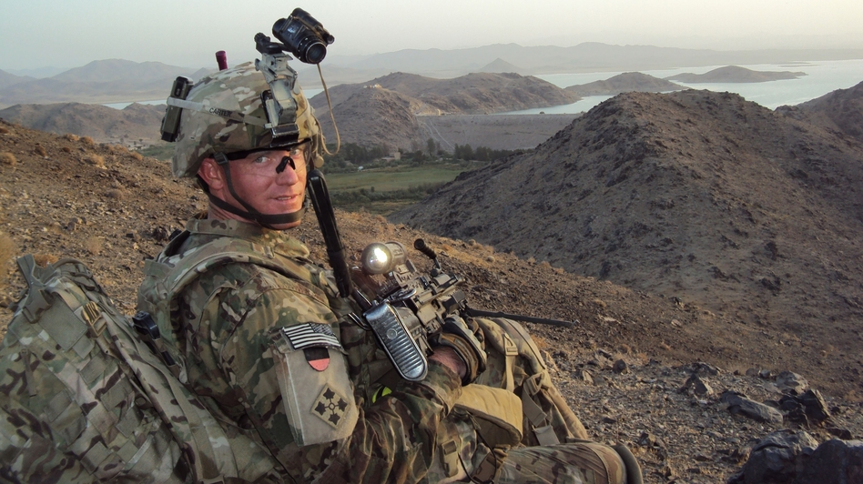 U.S. Army Staff Sergeant Ty Michael Carter near Dahla Dam, Afghanistan in July 2012. (Ho/AFP/Getty Images)
