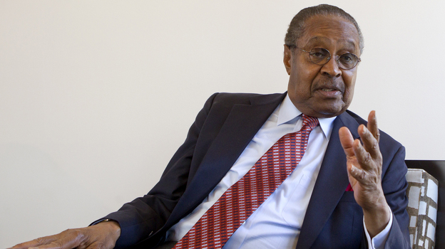 Clarence B. Jones this month in Palo Alto, Calif. As Martin Luther King Jr.'s attorney and adviser, Jones contributed to many of King's speeches, including his famous speech at the March on Washington in 1963. (Reuters/Landov)