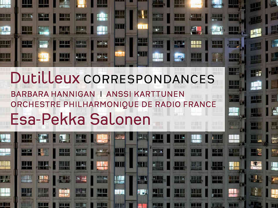 The album cover for Dutilleux' Correspondances and other works, which won the Contemporary prize at the 2013 Gramophone Awards.