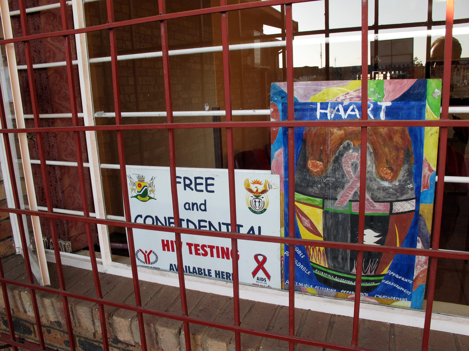 Now in South Africa, routine HIV services, including testing and treatment, must be offered at all local health facilities, such as this small clinic in Soweto. (NPR)