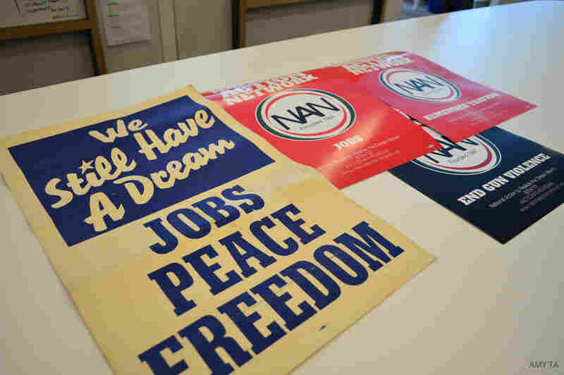 Democratic strategist Donna Brazile collected posters from the March on Washington — then and now.