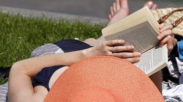 Not a bad idea on a sunny day. (EPA/Landov)