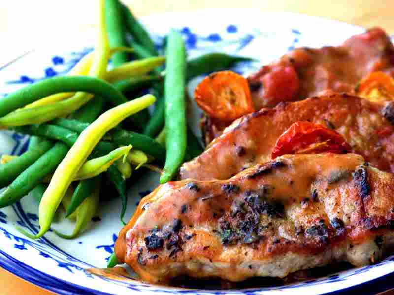 Roasted Tomatoes with Pork