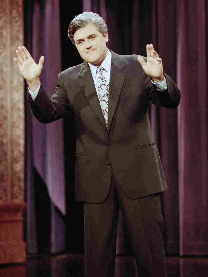 Jay Leno delivers the opening monologue during the inauguration of The Tonight Show with Jay Leno on May 25, 1992.