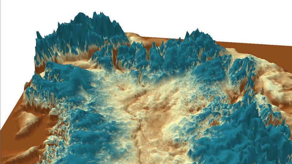 A little chilly for camping: Ice-penetrating radar revealed a mega-canyon below the Greenland ice she