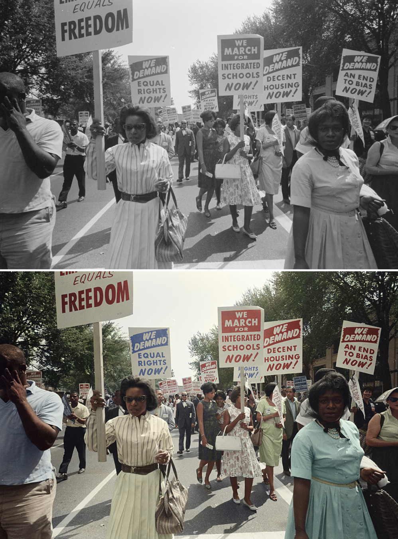 Colorizing The March On Washington