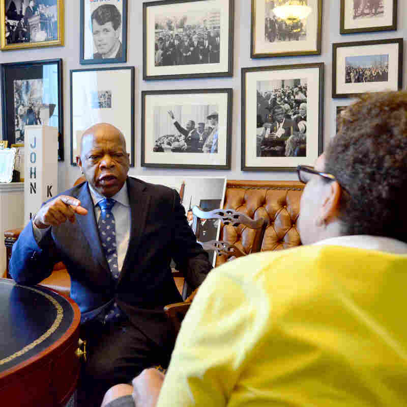 Historical photos and memorabilia decorate the walls of Rep. Lewis' office.