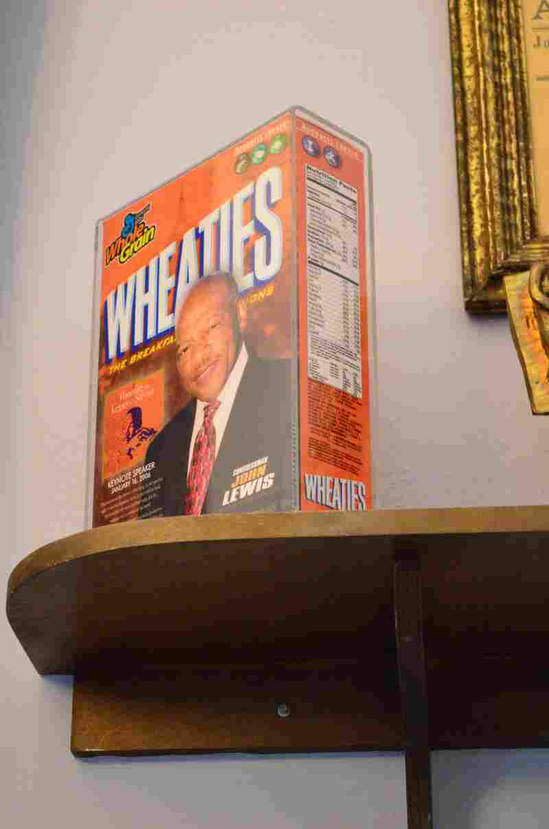 Rep. Lewis on a box of Wheaties.
