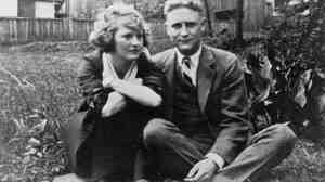 Zelda Sayre and F. Scott Fitzgerald pose for a photo at the Sayre home in Montgomery, Ala., in 1919, the year before they married.