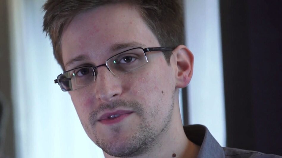 Edward Snowden, seen during a video interview with The Guardian. (EPA/LANDOV)