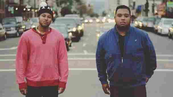Hip-hop duo 1-O.A.K. and Trackademicks.