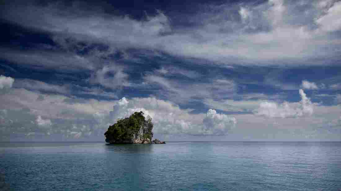 Rock islands dot the ocean in Palau, Micronesia. The waters of the tropical Pacific Ocean have been relatively cool for the last 15 years.
