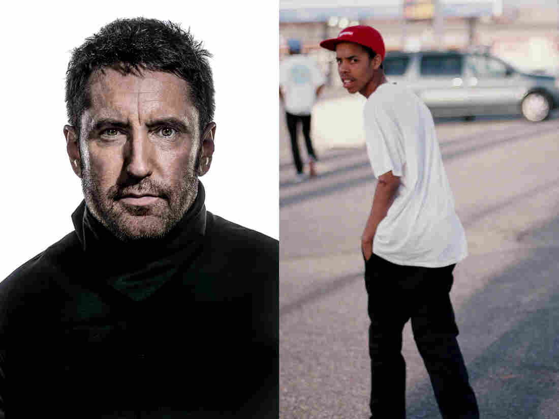 Trent Reznor (left) of the industrial rock band Nine Inch Nails, which puts its seventh album, Hesitation Marks, out next Tuesday. Rapper Earl Sweatshirt (right) released his major label debut on Tuesday.