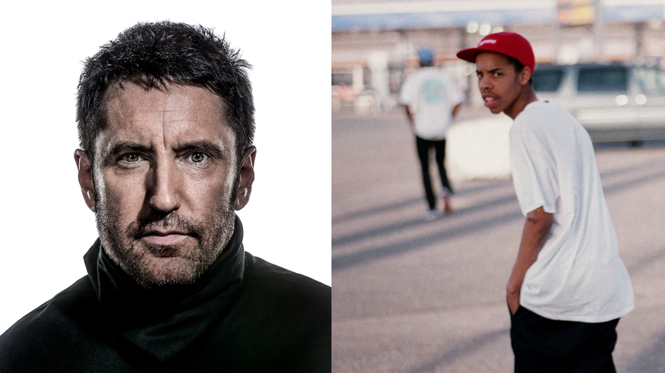 Trent Reznor (left) of the industrial rock band Nine Inch Nails, which puts its seventh album, Hesitation Marks, out next Tuesday. Rapper Earl Sweatshirt (right) released his major label debut on Tuesday. (Courtesy of the artists)