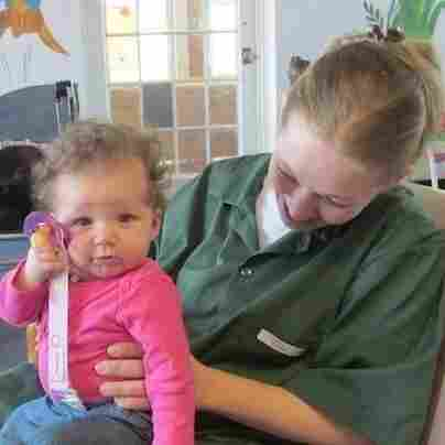 During the Prison Time project, NCPR broke the story of cutbacks to New York's prison nursery program, which allows inmates, like Cassidy pictured here with her daughter Hermione, to live with their babies.