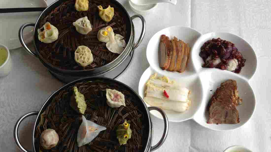 A Smorgasbord: Defachang restaurant prepares 318 different dumplings. Often the shape offers a clue to what's inside. For instance, that green frog is stuffed with bullfrog meat.