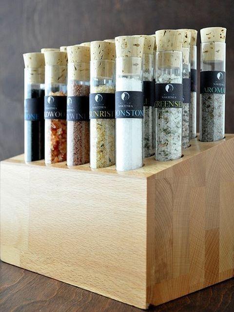 A gourmet sampling of Dead Sea salts.