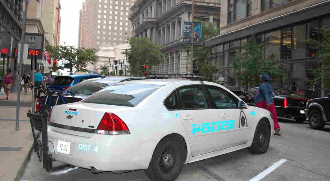 A St. Louis Police cruiser.