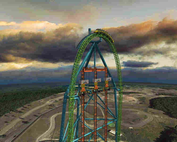 The  the 41-story Zumanjaro: Drop of Doom is scheduled to be complete in 2014.