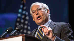Gubernatorial hopeful Dr. Donald Berwick speaks at the Massachusetts Democratic Party Platform Convention in July.
