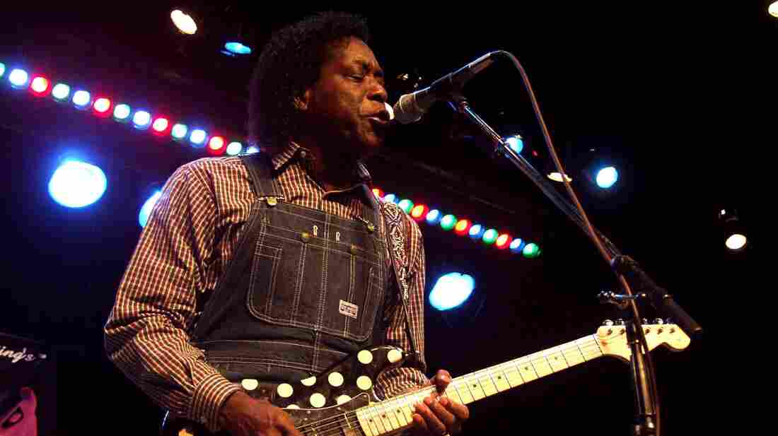 Buddy Guy performs live on Mountain Stage in May 2001.
