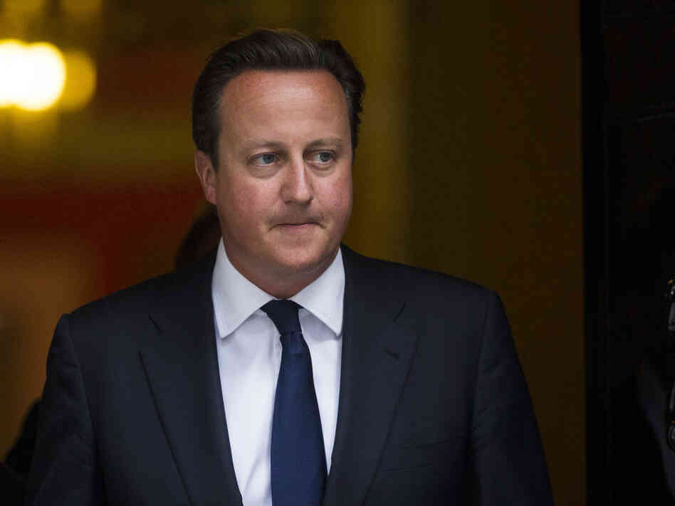 British Prime Minister David Cameron on Thursday as he left 10 Downing Street in London.