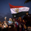 The protesters who opposed Hosni Mubarak two years ago, like these demonstrators in Cario's Tahrir Square on Feb. 8, 2011, have been pushed to the sidelines in the current confrontation.