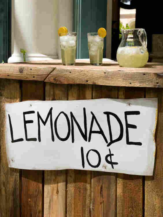 A lemonade stand.