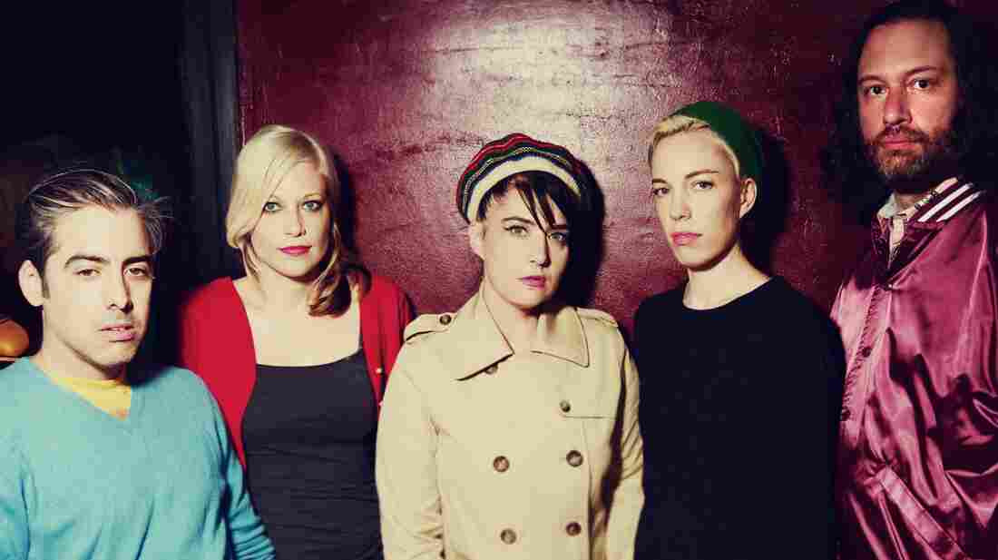 Kathleen Hanna (center) is the frontwoman of The Julie Ruin. The band's debut album is titled Run Fast.
