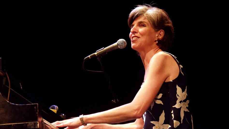 Marcia Ball performs on Mountain Stage in 2001.
