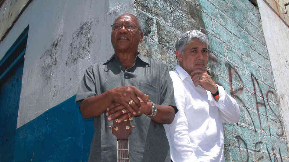 Monty Alexander (left) and Ernest Ranglin are known for their fluency in both jazz and Jamaican popular music.
